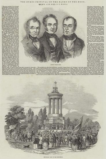 The Burns Festival on the Banks of the Doon, by Mr and Mrs S C Hall--Giclee Print