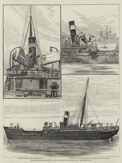 The Burnt Steamer Solway, Lying at Kingstown, Dublin Bay--Giclee Print