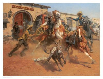 The Burro And The Bad Men-Andy Thomas-Art Print