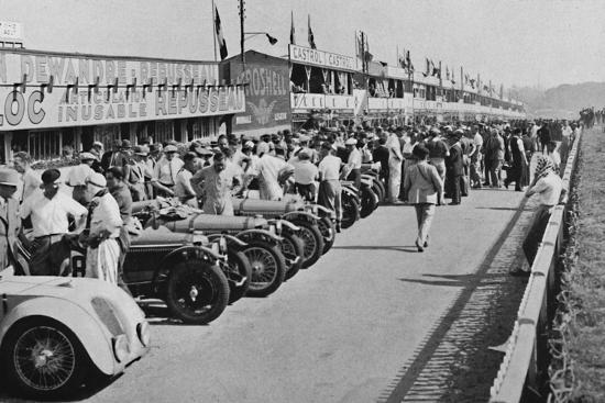 'The busy pits: before the start of Le Mans 24-hour Race', 1937-Unknown-Photographic Print