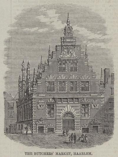 The Butchers' Market, Haarlem--Giclee Print