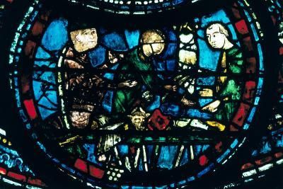 The Butchers, Stained Glass, Chartres Cathedral, France, 1194-1260--Photographic Print