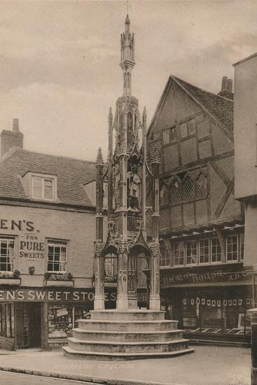 The Buttercross, Winchester, Hampshire, early 20th century(?)-Unknown-Photographic Print