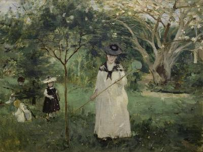 The Butterfly Hunt (The Artist's Sister with Her Children), 1874-Berthe Morisot-Giclee Print