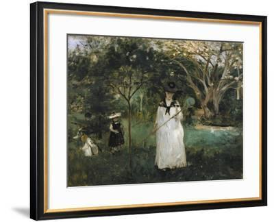 The Butterfly Hunt-Edouard Manet-Framed Art Print