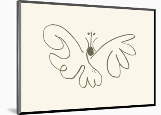 The Butterfly-Pablo Picasso-Mounted Serigraph
