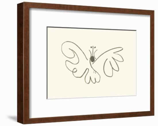 The Butterfly-Pablo Picasso-Framed Serigraph