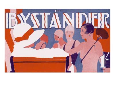 The Bystander Masthead by Tony Castle, 1930--Giclee Print