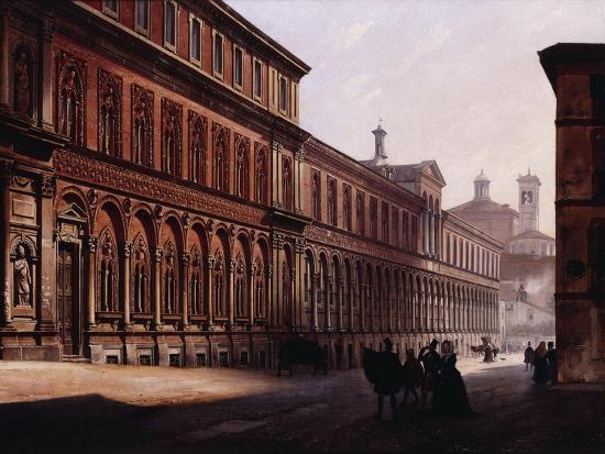 The Ca' Grande in the Via Festa Del Perdona, with S, 1842-Luigi Premazzi-Giclee Print