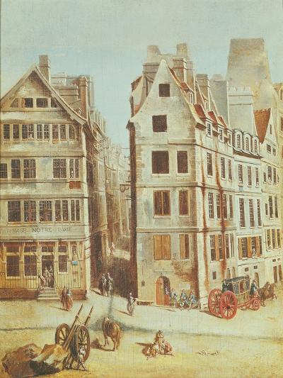 The Cabaret 'A L'Image Notre-Dame', Place De Greve in 1751-Nicolas Jean Baptiste Raguenet-Giclee Print