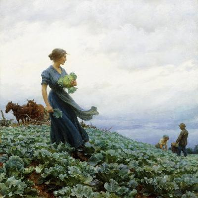 The Cabbage Field, 1914-Charles Courtney Curran-Giclee Print
