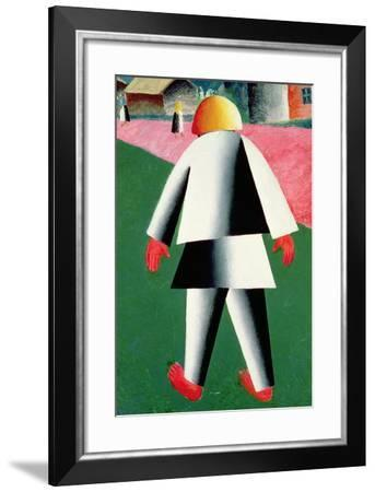 The 'Cabby' or Droshky Driver-Kasimir Malevich-Framed Giclee Print