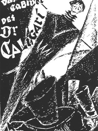 The Cabinet of Dr. Caligari, German Movie Poster, 1919--Art Print