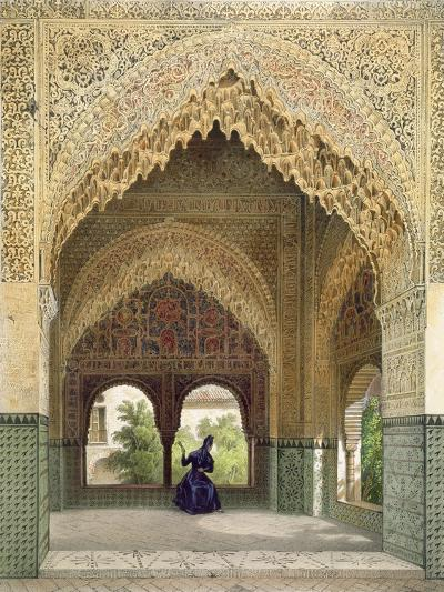 The Cabinet of the Infantas in the Room of the Two Sisters, the Alhambra, Granada, 1853-Leon Auguste Asselineau-Giclee Print