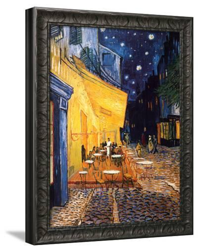 The Caf? Terrace on the Place du Forum, Arles, at Night, c.1888-Vincent van Gogh-Framed Canvas Print