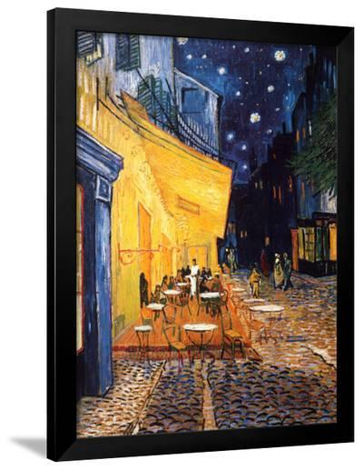 The Caf? Terrace on the Place du Forum, Arles, at Night, c.1888-Vincent van Gogh-Framed Art Print