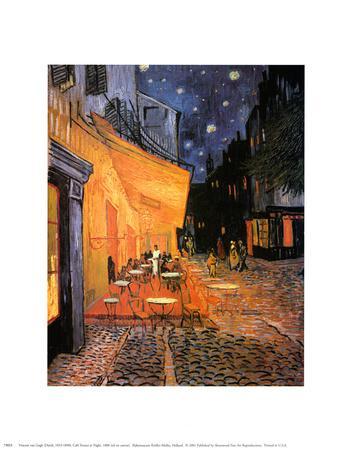 The Café Terrace on the Place du Forum, Arles, at Night, c.1888-Vincent van Gogh-Art Print