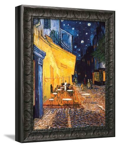 The Cafe Terrace on the Place du Forum, Arles, at Night, c.1888-Vincent van Gogh-Framed Canvas Print