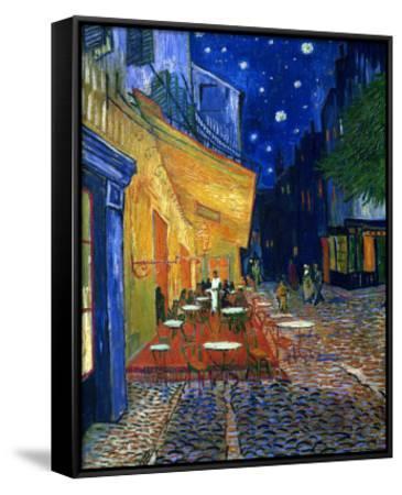 The Café Terrace on the Place du Forum, Arles, at Night, c.1888-Vincent van Gogh-Framed Canvas Print