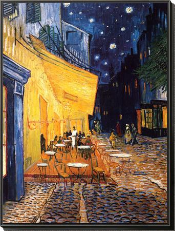 The Café Terrace on the Place du Forum, Arles, at Night, c.1888-Vincent van Gogh-Framed Print Mount