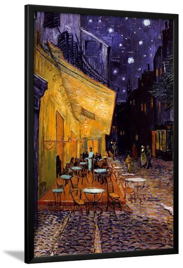The Café Terrace on the Place du Forum, Arles, at Night, c.1888-Vincent van Gogh-Lamina Framed Poster