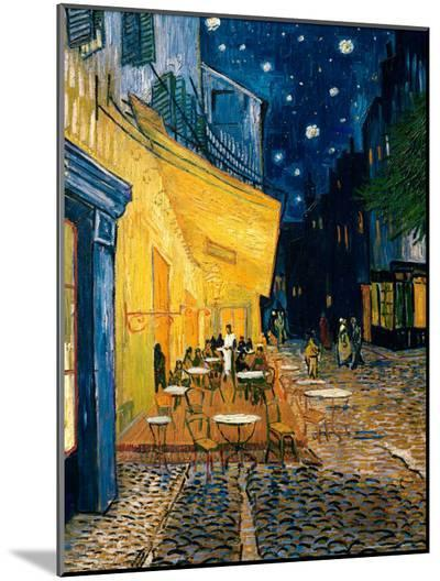 The Café Terrace on the Place du Forum, Arles, at Night, c.1888-Vincent van Gogh-Mounted Print