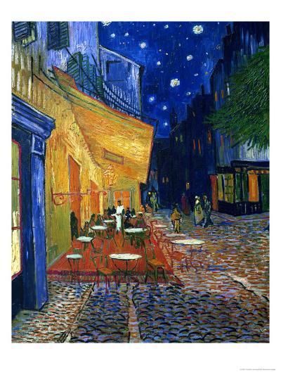 The Café Terrace on the Place du Forum, Arles, at Night, c.1888-Vincent van Gogh-Premium Giclee Print