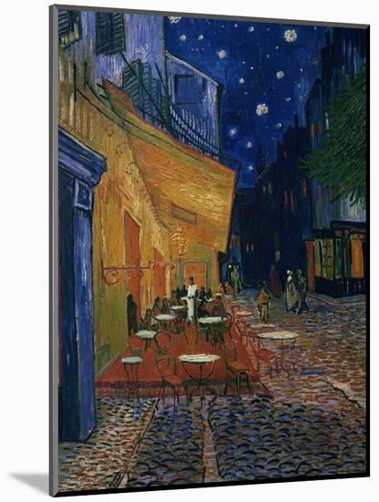 The Café Terrace on the Place du Forum, Arles, at Night, c.1888-Vincent van Gogh-Mounted Photographic Print