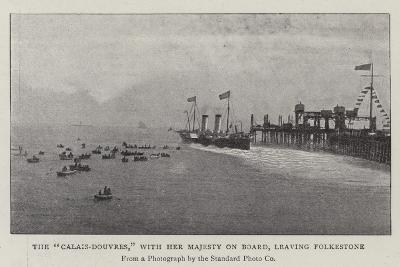 The Calais-Douvres, with Her Majesty on Board, Leaving Folkestone--Giclee Print