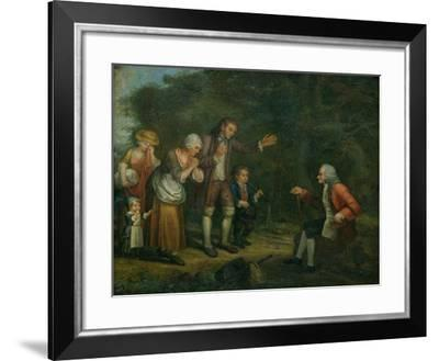 The Calas Family Before Voltaire at Ferney--Framed Giclee Print