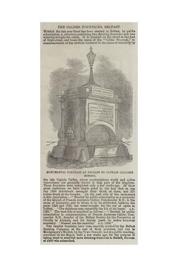 The Calder Fountains, Belfast--Giclee Print