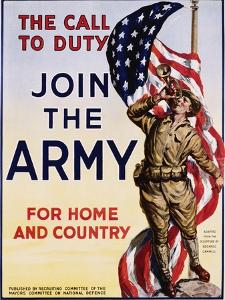 The Call to Duty for Home and Country Poster