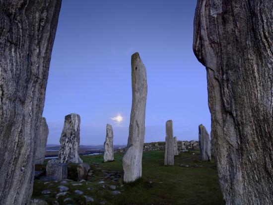 The Callanish Stones at Moonrise-Jim Richardson-Photographic Print
