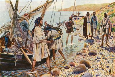 The Calling of Four Disciples-Corwin Knapp Linson-Giclee Print