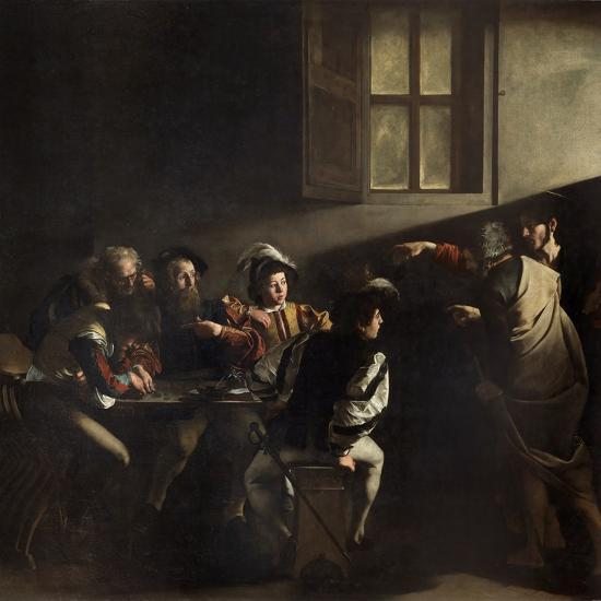 The Calling of St. Matthew by Caravaggio--Giclee Print