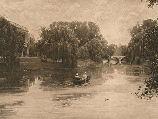 'The Cam at Cambridge with Trinity College', 1902-Unknown-Photographic Print