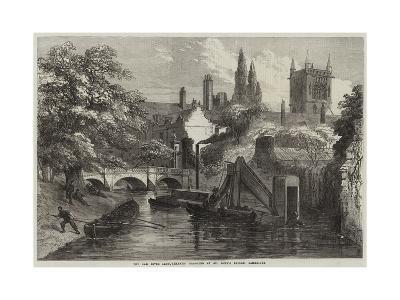 The Cam River Improvements, Dredging at St John's Bridge, Cambridge--Giclee Print