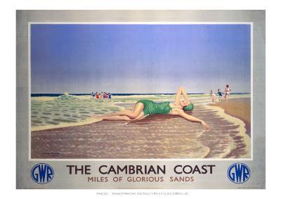The Cambrian Coast, Miles of Glorious Sands GWR--Giclee Print