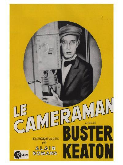 The Cameraman, French Movie Poster, 1928--Art Print