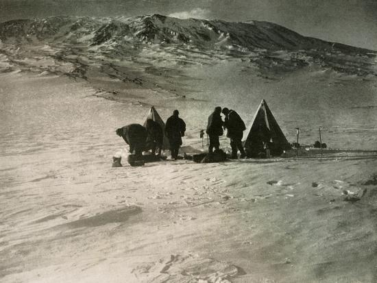 'The Camp 7000 Feet Up Mount Erebus', 1908, (1909)-Unknown-Photographic Print