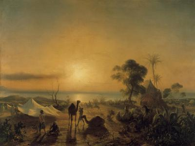 The Camp at Staoueli, 1830-Theodore Gudin-Giclee Print