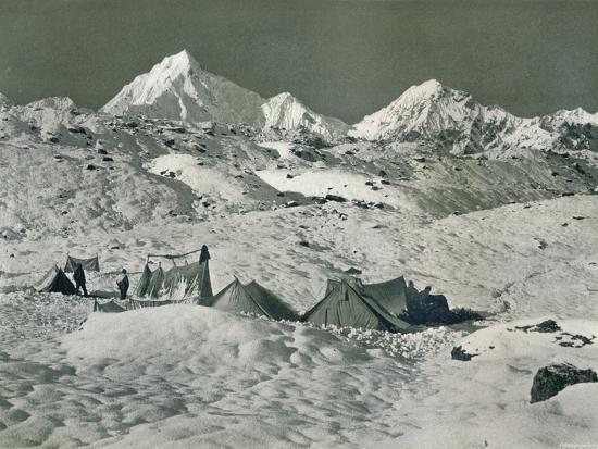 'The Camp below Jongsong La', c1903-Unknown-Photographic Print