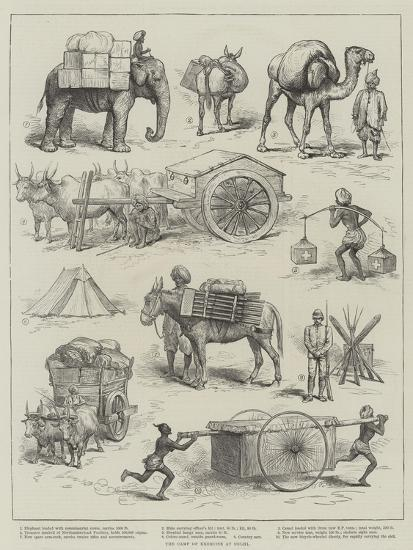 The Camp of Exercise at Delhi--Giclee Print