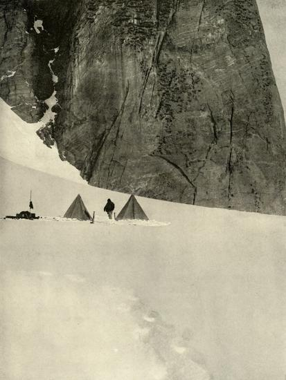 'The Camp Under the Granite Pillar, Half a Mile from the Lower Glacier Depot...January 27', 1909-Unknown-Photographic Print