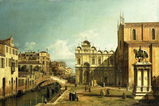 The Campo Santi Giovanni E Paolo, Venice, 1738-9--Premium Giclee Print