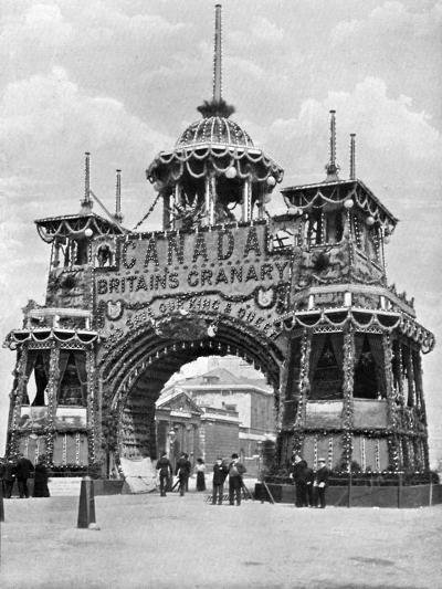The Canadian Arch, Whitehall, London, 1902-HO Klein-Giclee Print