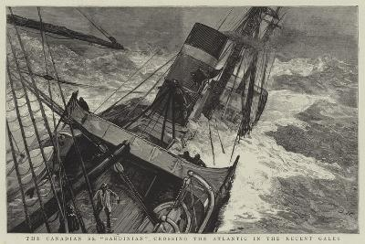 The Canadian Ss Sardinian Crossing the Atlantic in the Recent Gales-Joseph Nash-Giclee Print