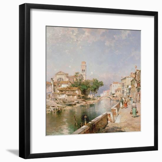 The Canal Tolentini-Franz Xaver Thallmaier-Framed Premium Giclee Print