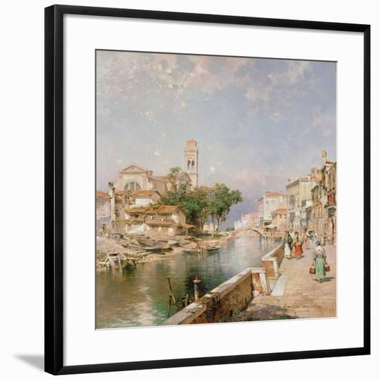 The Canal Tolentini-Franz Xaver Thallmaier-Framed Giclee Print