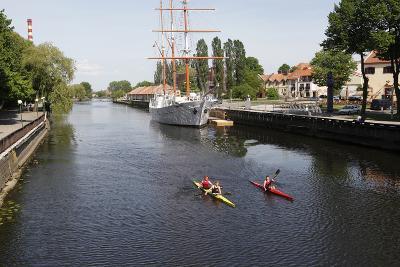 The Canals of Klaipeda, Lithuania-Dennis Brack-Photographic Print